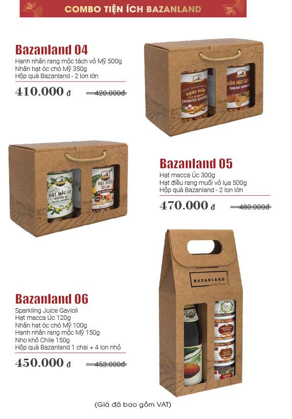 catalogue quà tết bazanland
