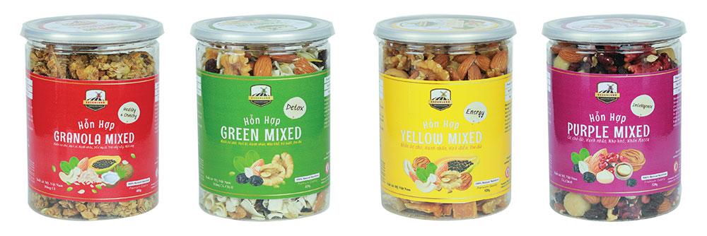 Sản phẩm mixed nuts tại Bazanland