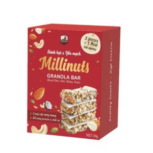 Thanh ngũ cốc Millinuts, Granola Bar của Bazanland
