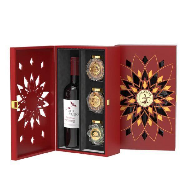 Hộp quà tết các loại hạt và rượu vang