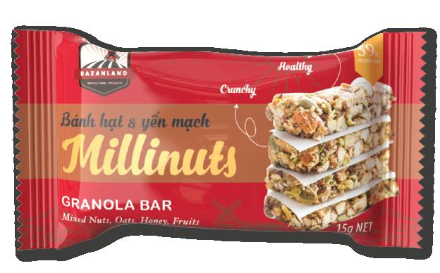 thanh ngũ cốc millinuts - thanh protein giảm cân